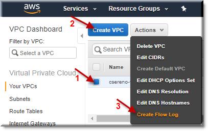 Log AWS VPC Flows