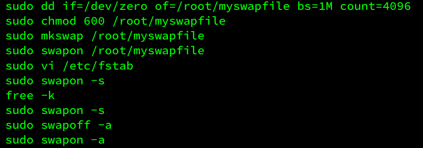 Swap file commands